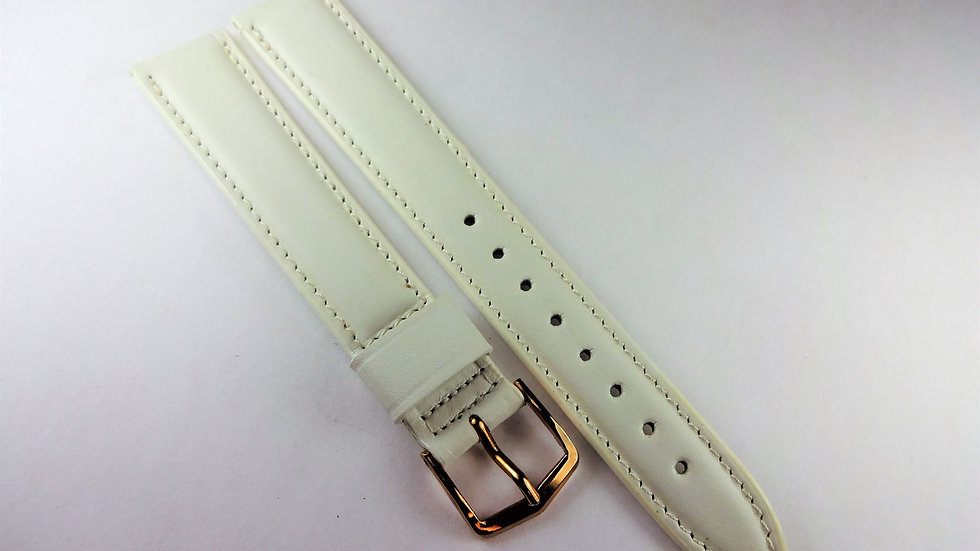Replacement 16mm White Genuine Selected Calfskin