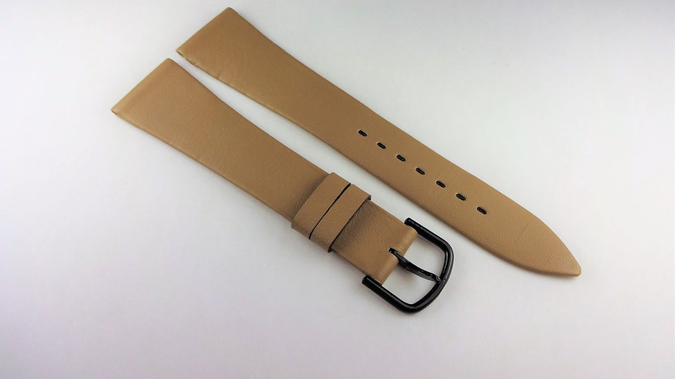 Replacement Hadley-Roma 19mm Beige/Sepia Waterproof Leather