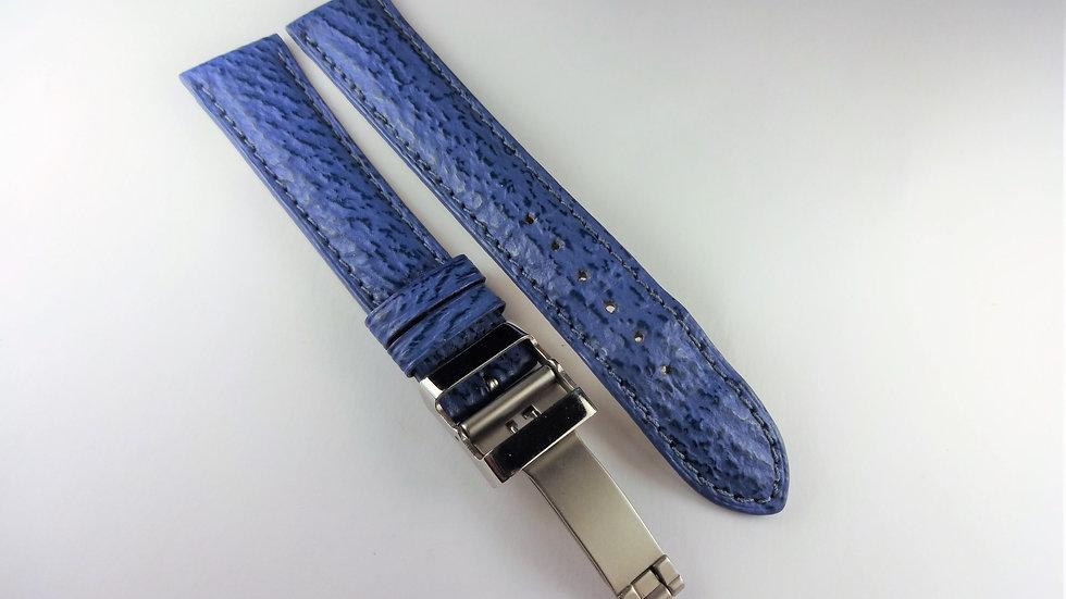 Replacement 18mm Blue Genuine Sharkskin