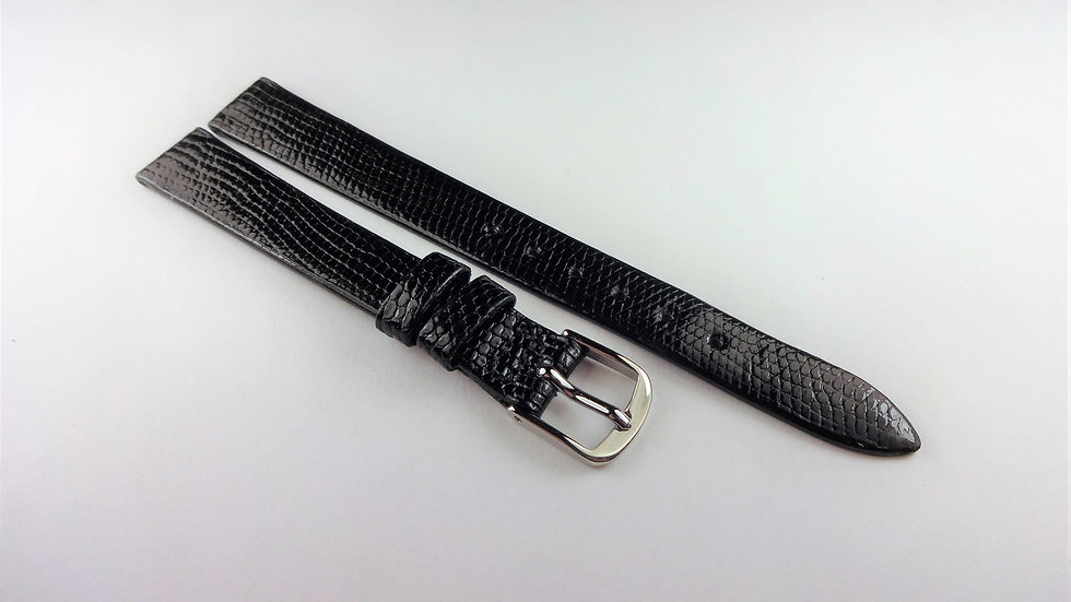Corum 11mm Black Genuine Royal Lizard