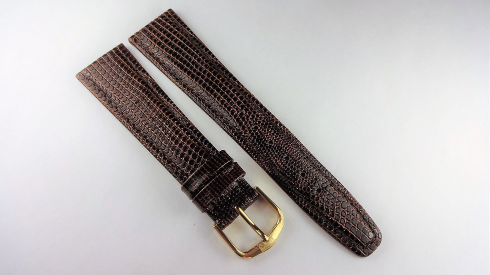 Replacement 20mm Brown Genuine Leather Lizard Grain