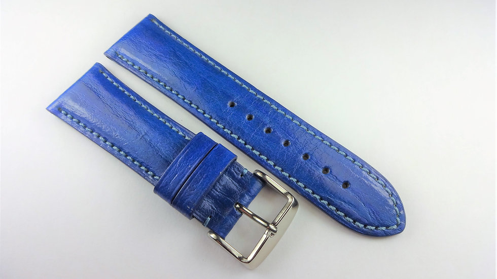 Replacement 22mm Blue Genuine Leather