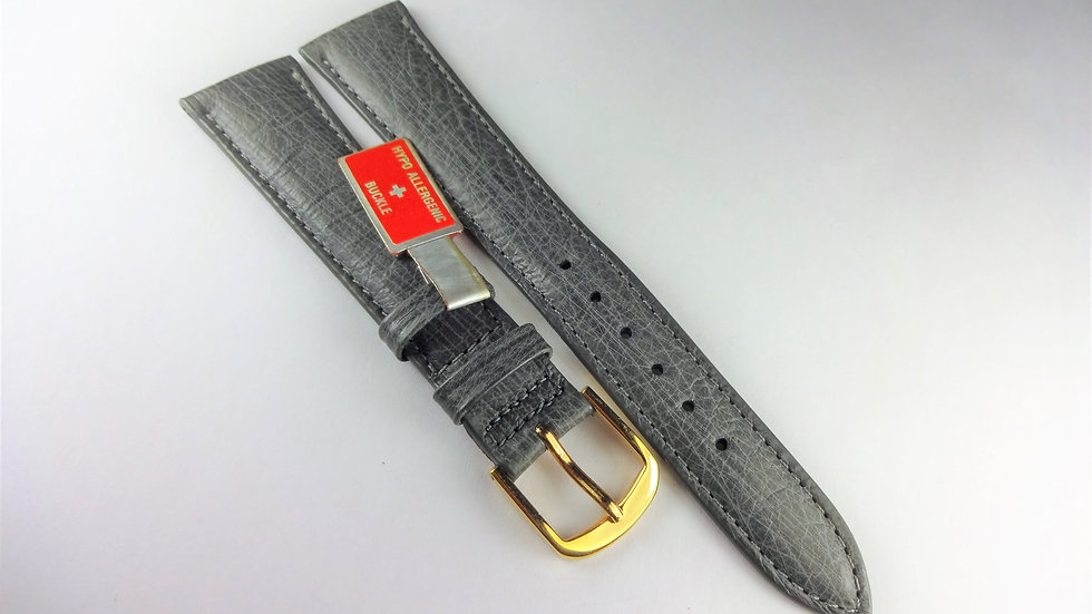 Replacement 18mm Gray Genuine Ostrich