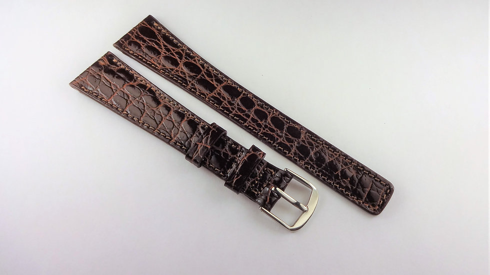 Replacement 17mm Brown Genuine Baby Croco Grain on Calf