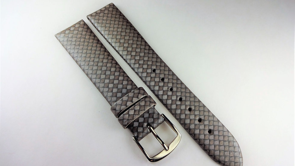 Replacement Hoders 18mm Silver Genuine Leather