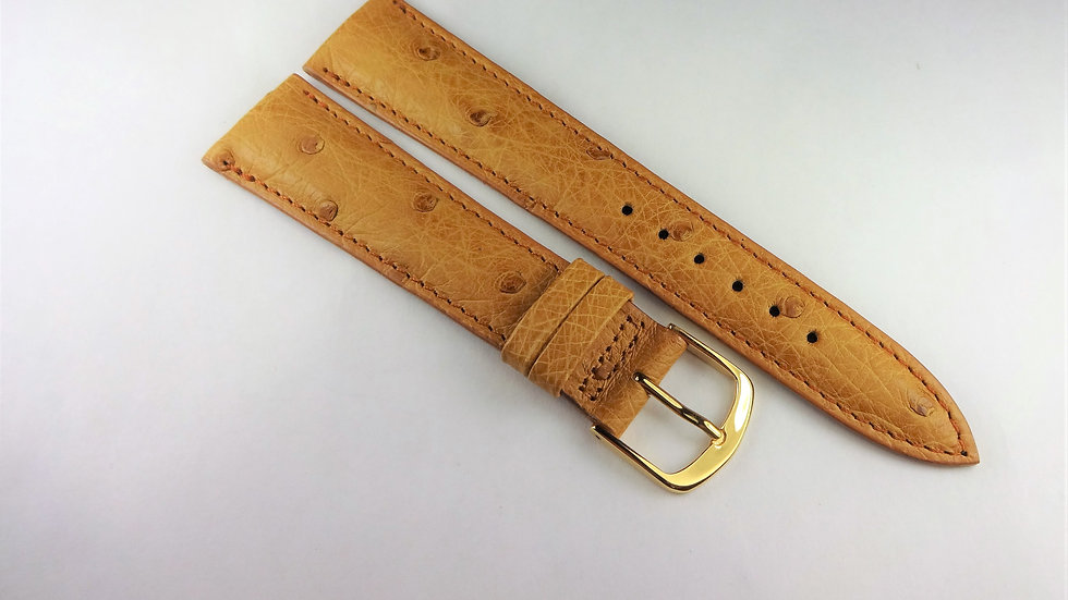 Replacement 19mm Tan Genuine Ostrich