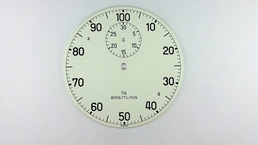 Breitling Stop Watch White Dial 48mm