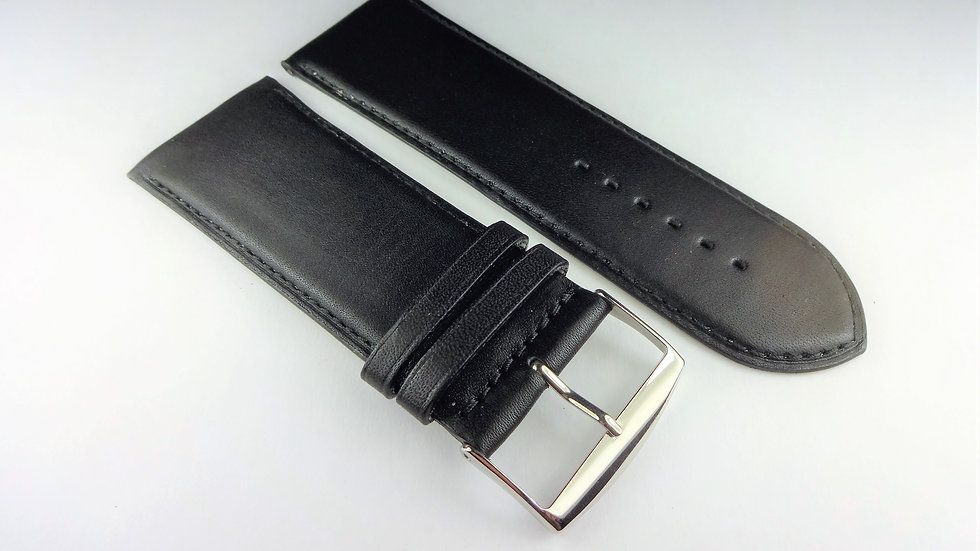 Replacement 30mm Black Genuine Box Plain Leather