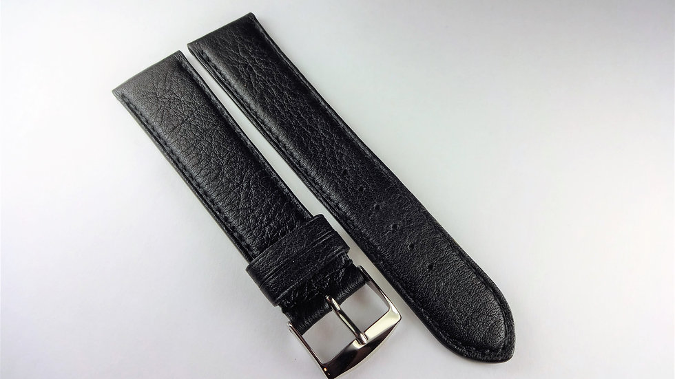 Replacement 20mm Black Genuine Leather