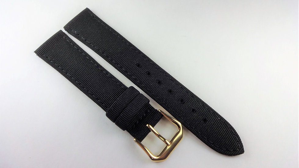 Replacement 18mm Black Genuine Leather Fabric Top