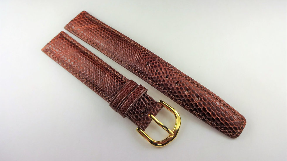 Replacement Hadley-Roma 17mm Brown Genuine Lizard
