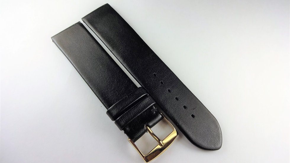 Replacement 20mm Black Genuine Goat