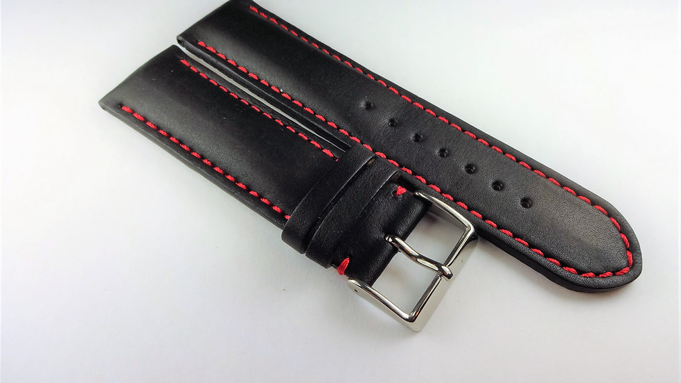 Replacement Cowhide Leather 24mm Black