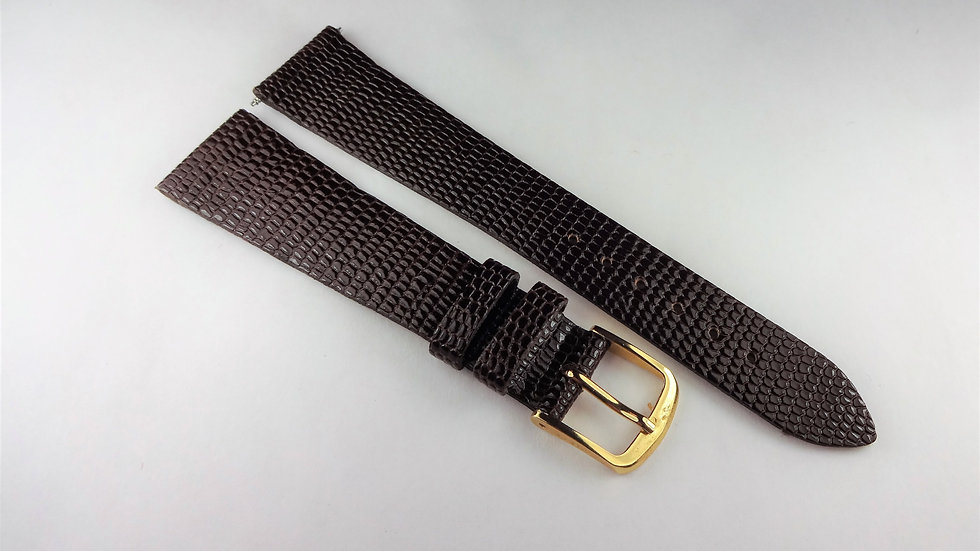 Replacement 19mm Brown Genuine Leather Lizard Grain