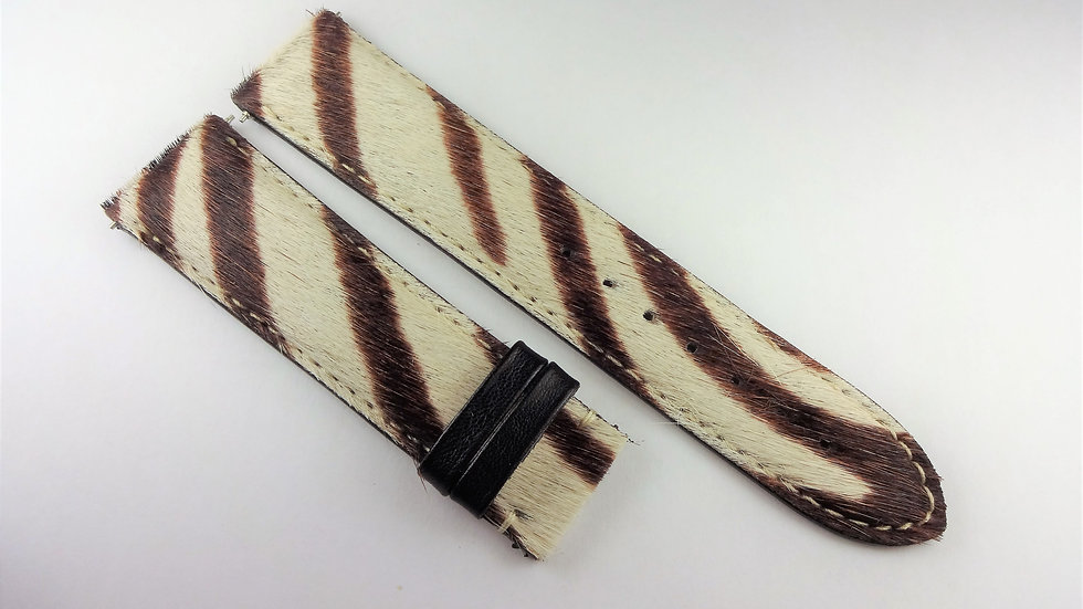 Replacement 22mm Cream/Brown Genuine Leather Hair Top