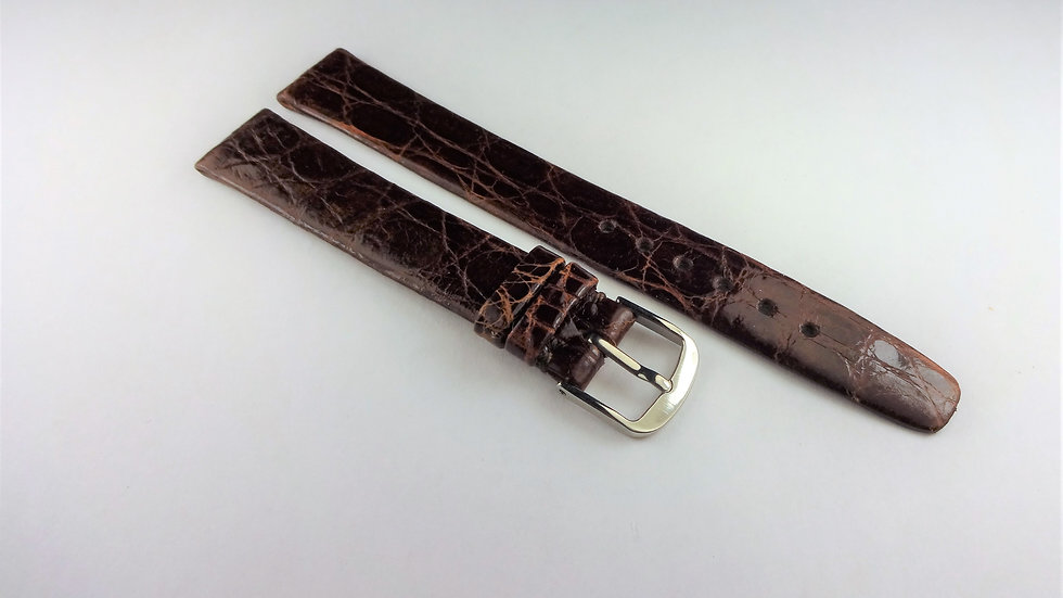 Tiffany & Co 13mm Brown Genuine Crocodile