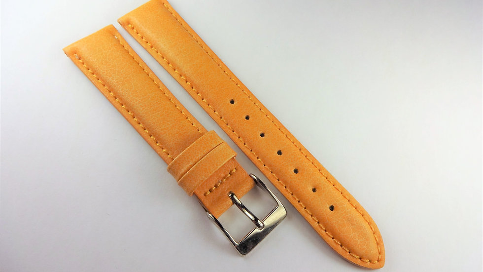 Replacement 18mm Yellow-Orange Genuine Leather