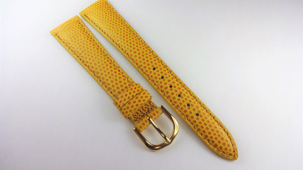 Replacement 18mm Yellow Genuine Leather Lizard Grain