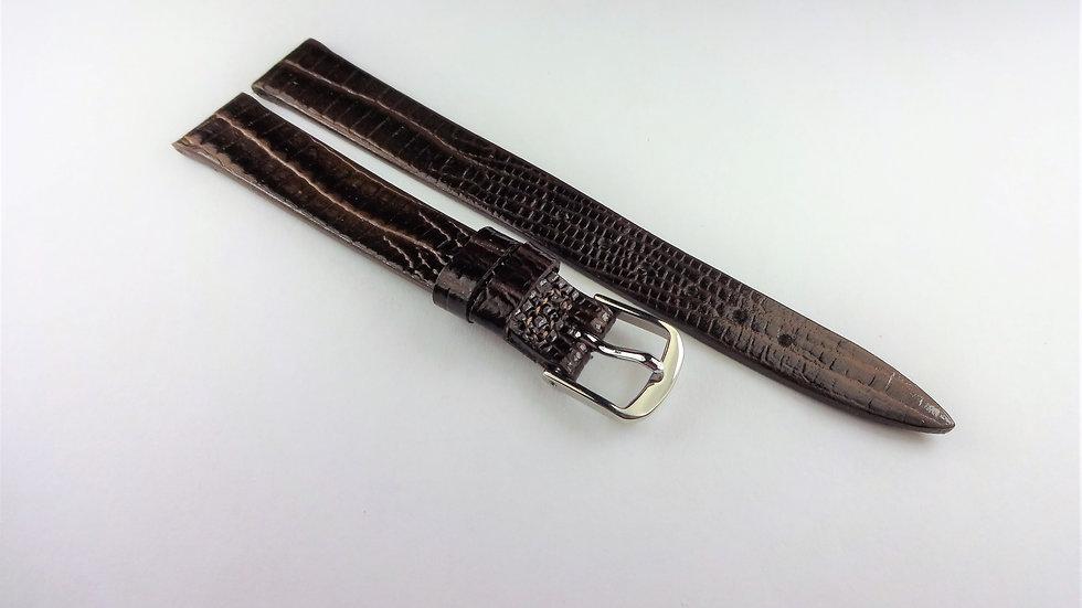 Rotary 12mm Brown Genuine Leather Lizard Grain