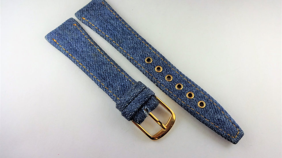 Replacement 19mm Blue Denim With Yellow Stitching