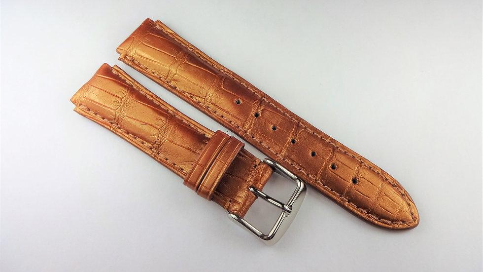 Replacement For Technomarine 17mm Rust Genuine Louisiana Alligator