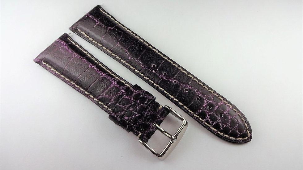 Replacement 24mm Purple Genuine Alligator