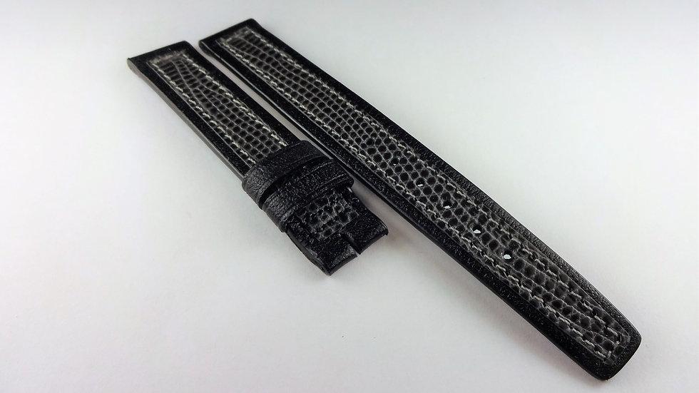 Hamilton 13mm Black & Gray Paloma Calfskin