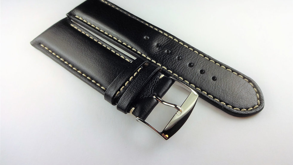 Replacement Cowhide Leather 26mm Black