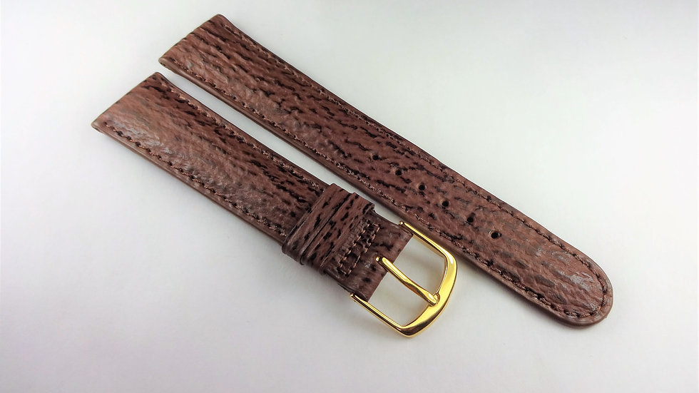 Replacement 19mm Brown Genuine Sharkskin