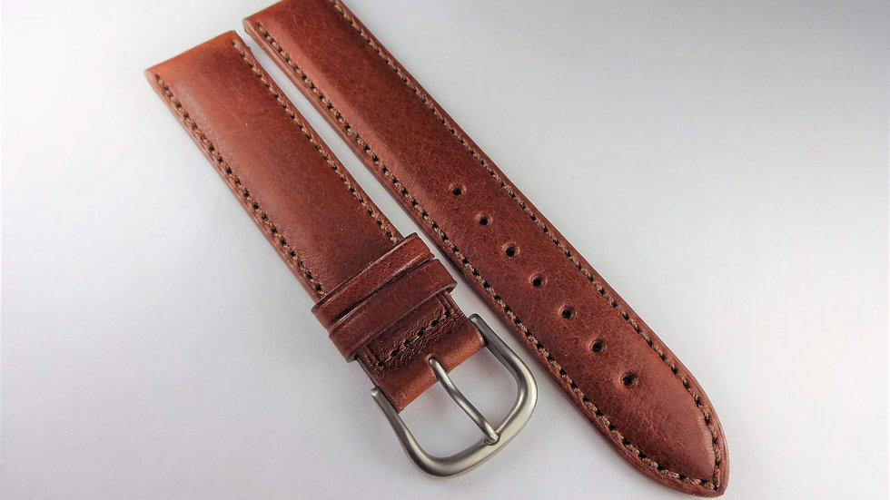 Replacement Hadley-Roma 18mm Brown Genuine Leather