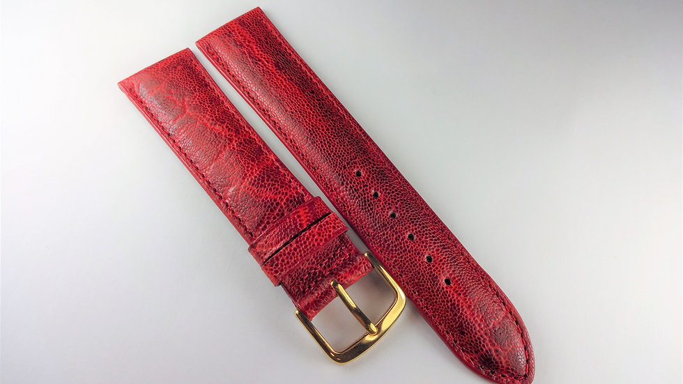 Replacement 20mm Red Genuine Calfskin