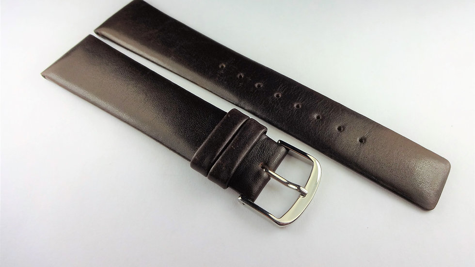 Replacement 21mm Chocolate Brown Genuine Leather