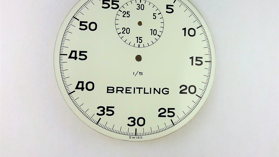 Breitling Stop Watch White Enamel Dial 48mm
