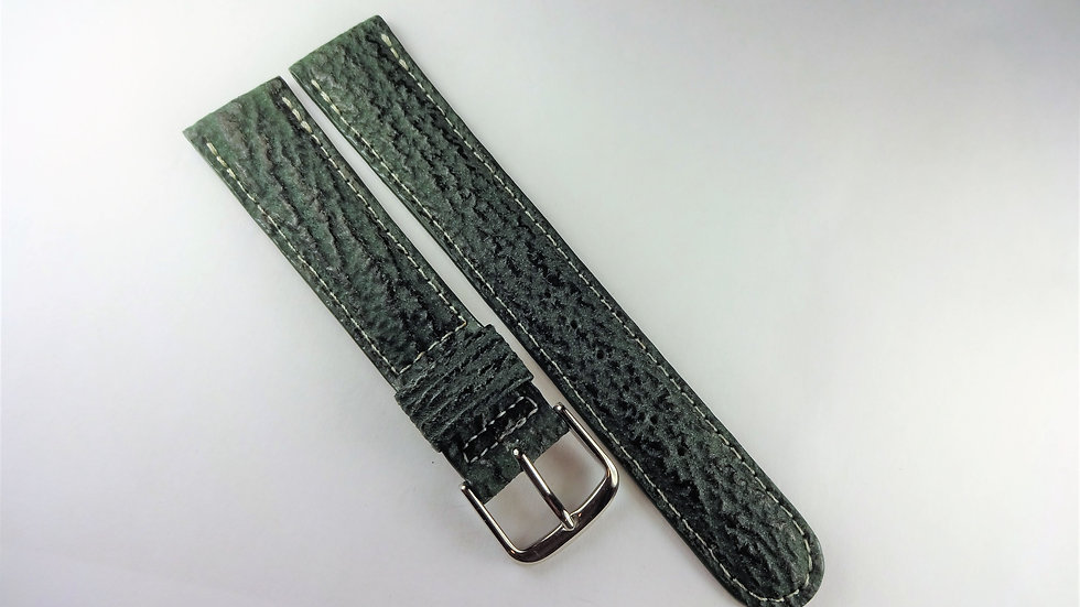 Seiko 18mm Green Genuine Sharkskin