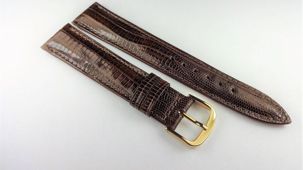 Oris 18mm Brown Genuine Leather Lizard Grain
