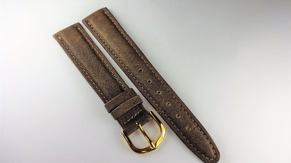 Replacement Hadley-Roma 18mm Sepia Genuine Leather
