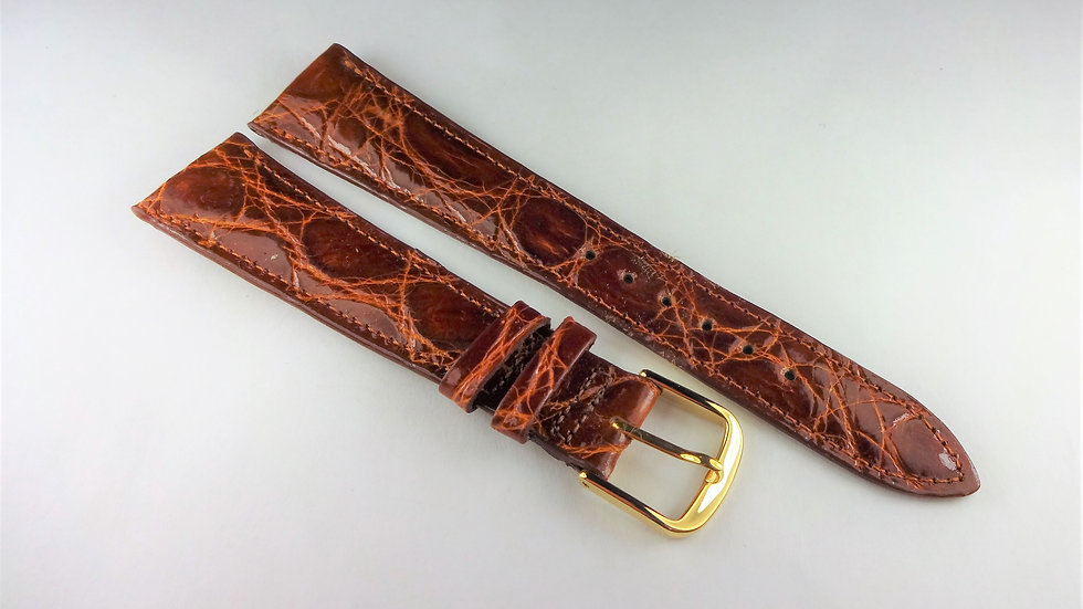 Replacement 19mm Brown Genuine Selected Crocodile