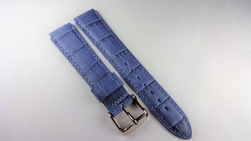 Replacement 16mm Blue Genuine Calfskin Alligator Grain