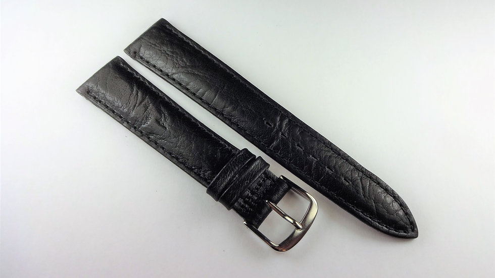 Replacement Black 18mm Grained Leather
