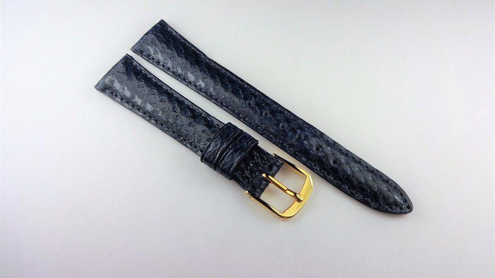 Replacement Blue 15mm Genuine Leather Salmon Print