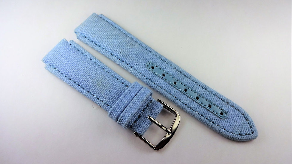 Replacement for Technomarine 17mm Blue Fabric