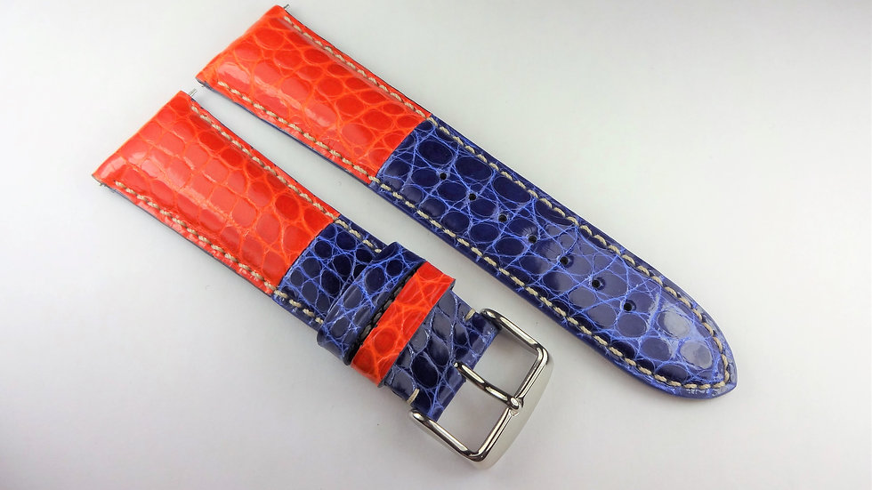 Replacement 24mm Red/Blue Genuine Alligator