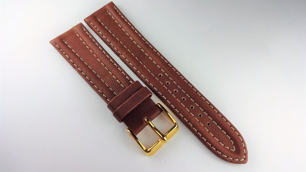 Replacement 20mm Brown Genuine Leather