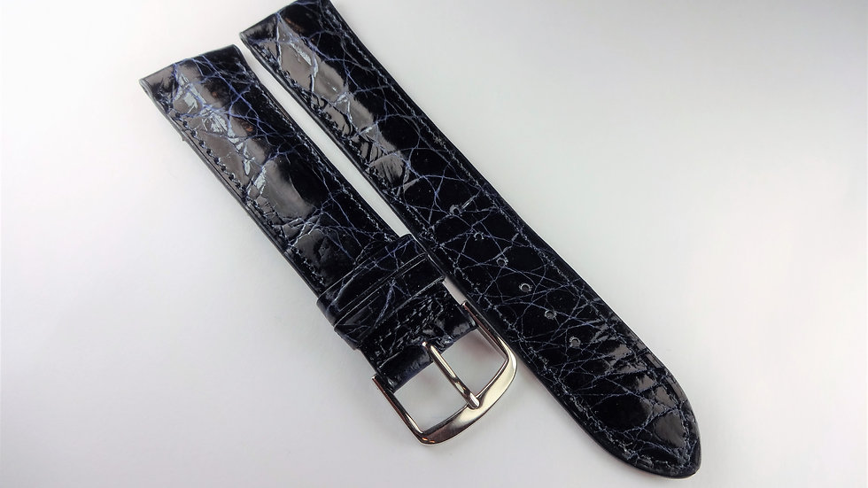 Replacement 20mm Blue Genuine Selected Crocodile