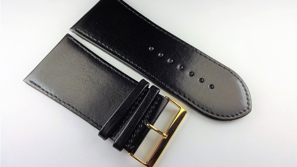Replacement 38mm Black Genuine Leather
