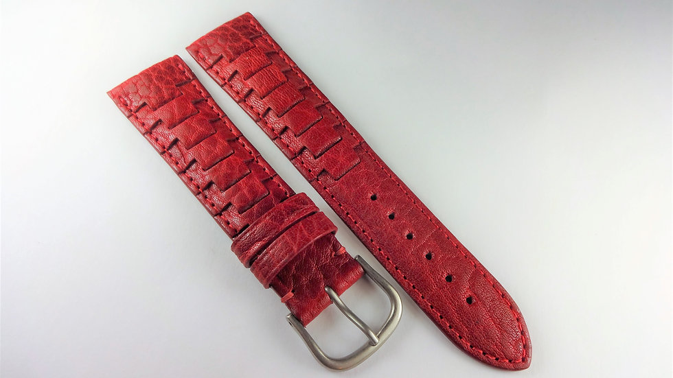 Replacement Hadley-Roma 20mm Red Genuine Leather