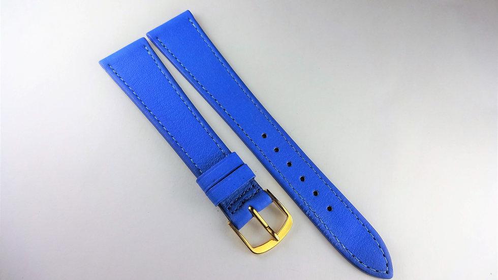 Replacement 18mm Blue Genuine Calfskin