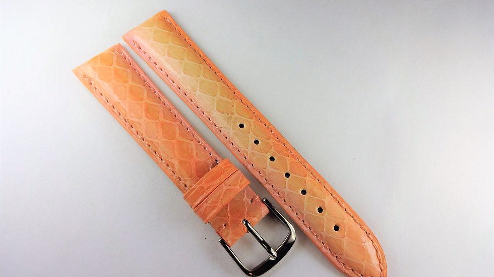 Replacement 18mm Pinkish Orange Genuine Snakeskin