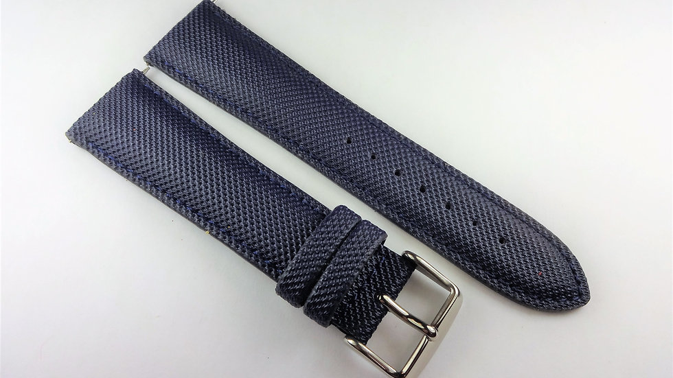 Replacement 24mm Blue Rubberized Leather