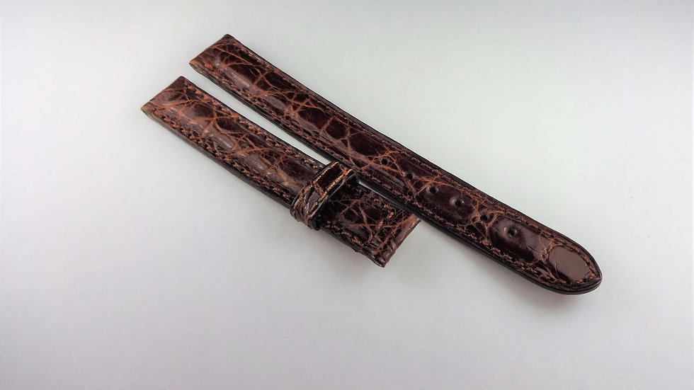 Tiffany & Co Tesoro 12mm Brown Genuine Crocodile For Deployment